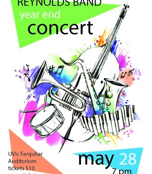 Band Year End Concert at UVic is this upcoming Tuesday- Get your tickets