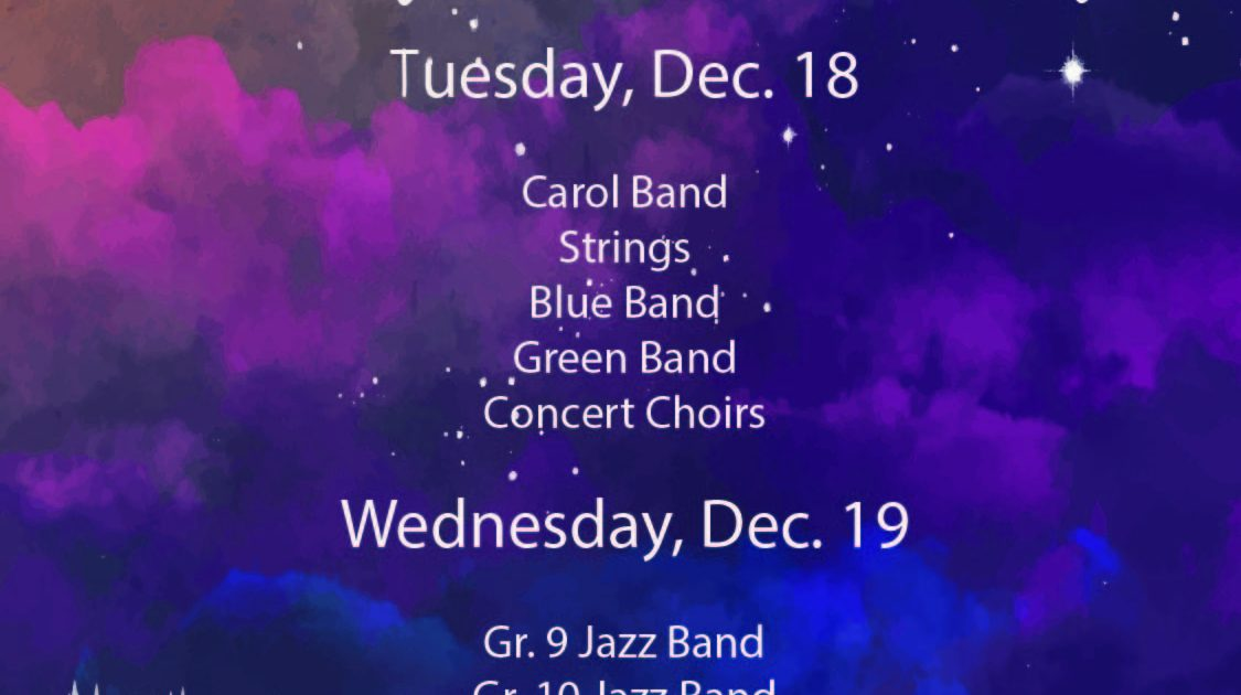 Choir/String/Musical Updates Dec 3-7
