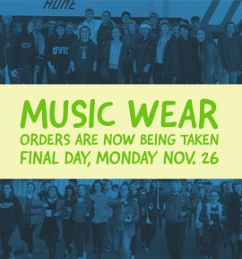 Music Wear Orders  Are Due Tomorrow