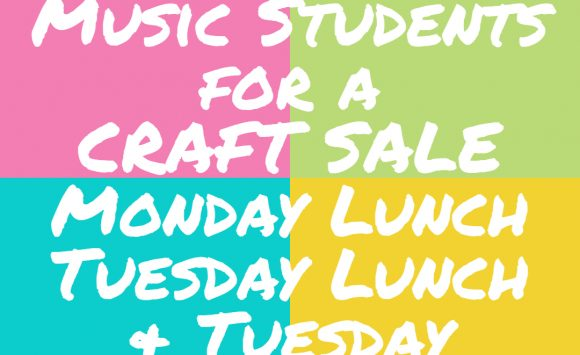 Craft and Bake Sale on Mon. and Tues.