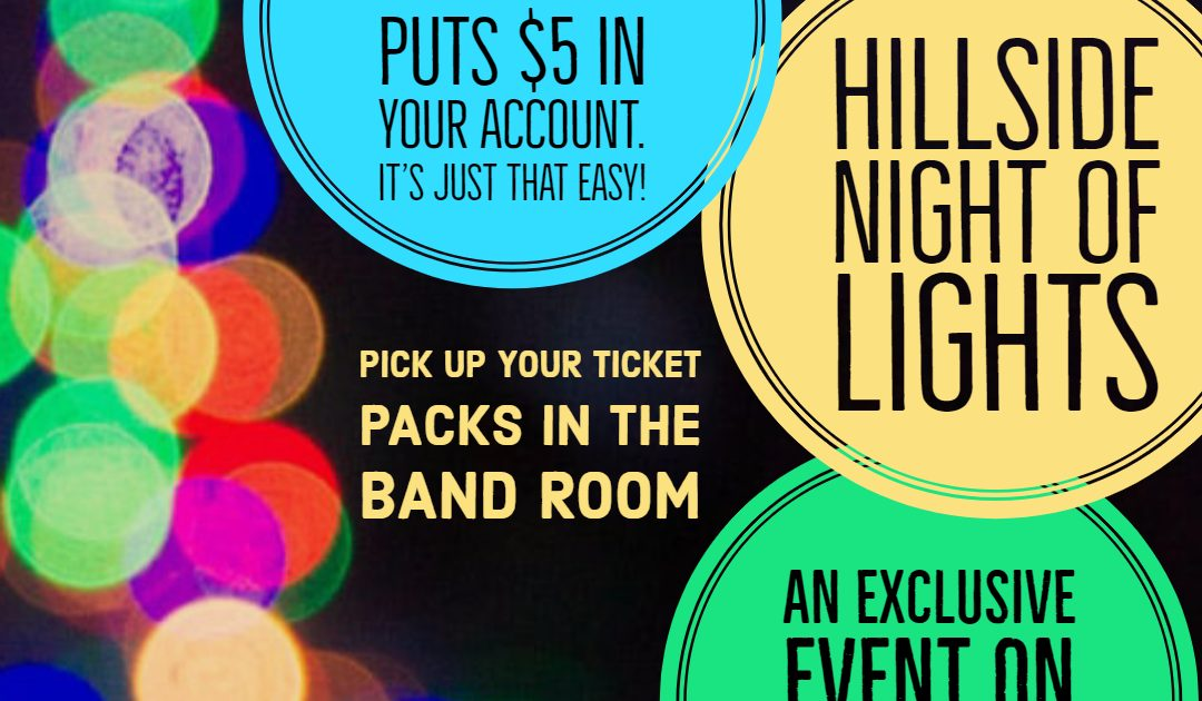 Hillside Night of Lights is November 17