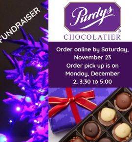 Purdys Chocolate Fundraiser Has Started!